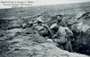 1914. Russian Imperial Army Infantry Entrenching