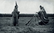 1914. Russian Imperial Army Infantry at Prayer